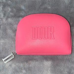 NIB authentic Dior Beaute vegan leather pouch